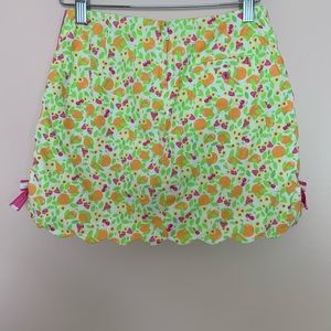 Lilly Pulitzer Bottoms - Lilly Pulitzer Vintage Girls Scallop Citrus Skirt